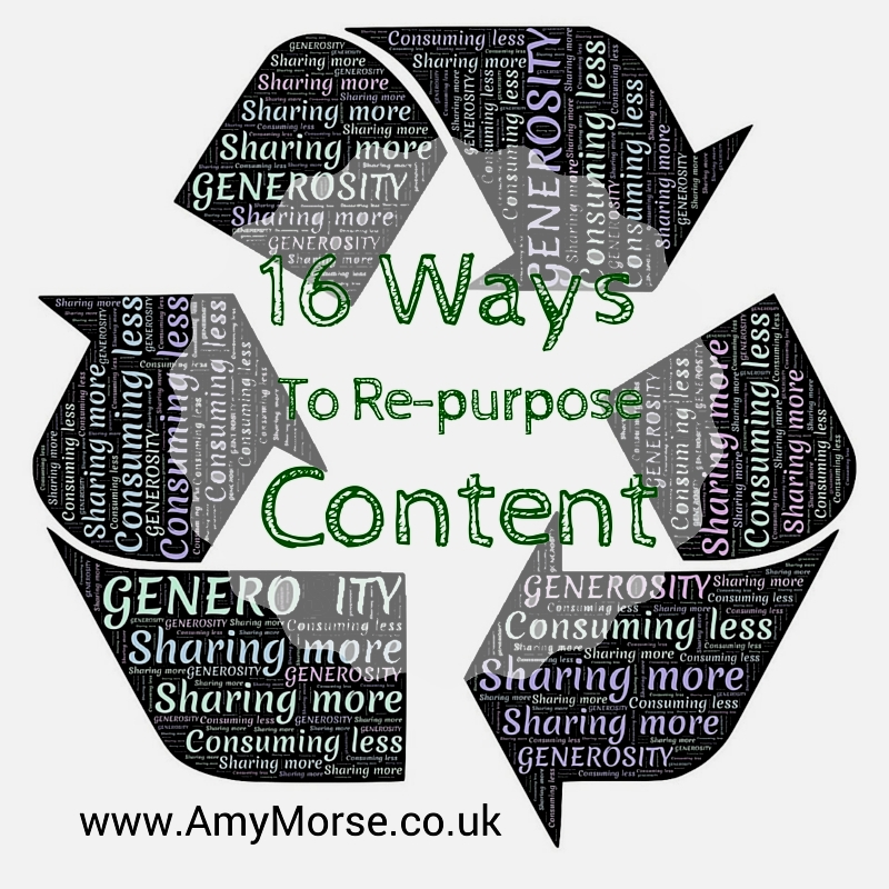 16 ways to re-purpose content
