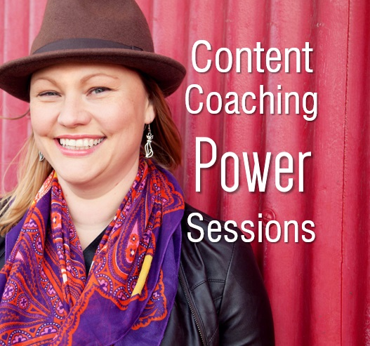 Content Coaching Power Sessions