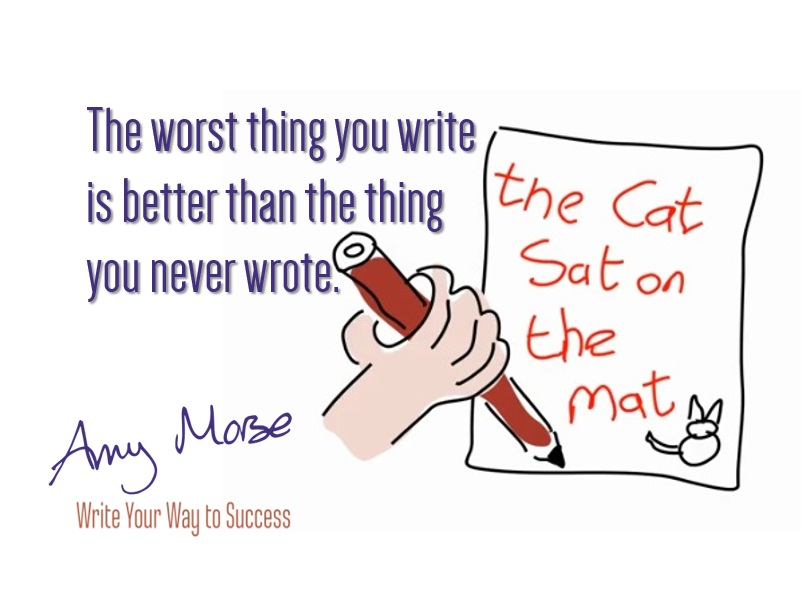The worst thing you write is better than the blogs you never wrote