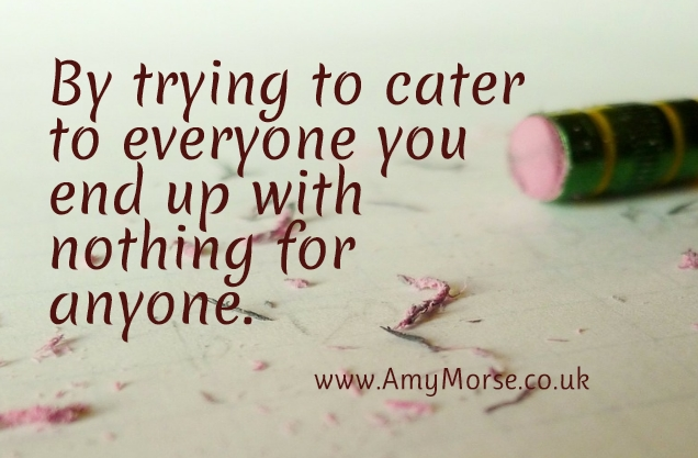 By trying to cater for everyone you end up with nothing for anyone