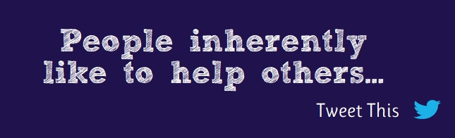 People inherantly help