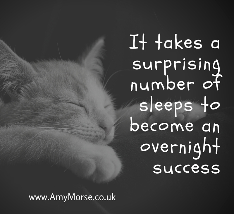 It takes a surprising number of sleeps to become and overnight success. Be better at business.
