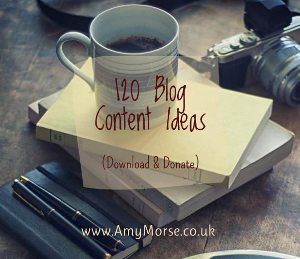 120 Blog Content Ideas by Amy Morse Authorpreneur