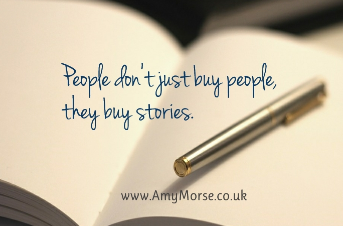 People don't just buy people, they buy stories