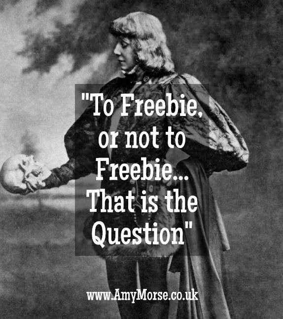To freeie or not to freebie... that is the question. Sould you offer freebies in your business? Download my FREE Cost / Benefit Crib Sheet if you're struggling with this dilemma