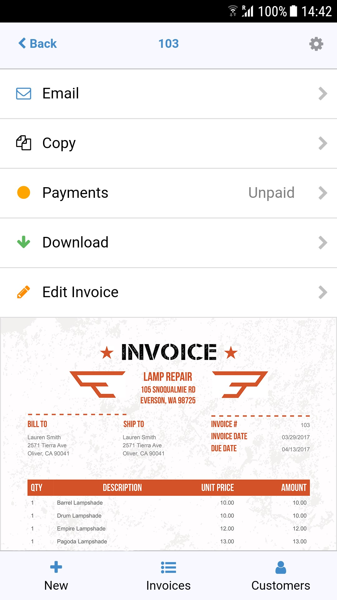 invoice story sidekick