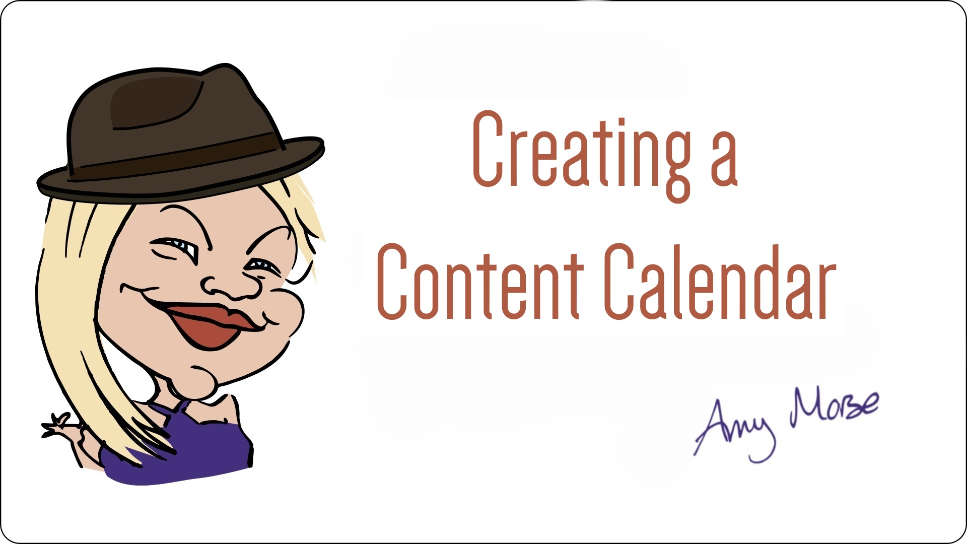 Create a content calendar free workshop