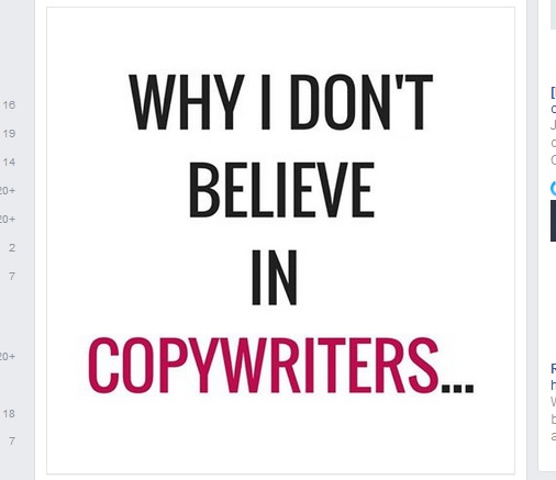 Why I don't believe in copywriters
