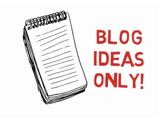 capture blog ideas