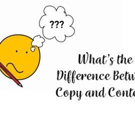What's the difference between content and copy