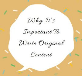 Why write original content