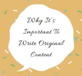Why write original content