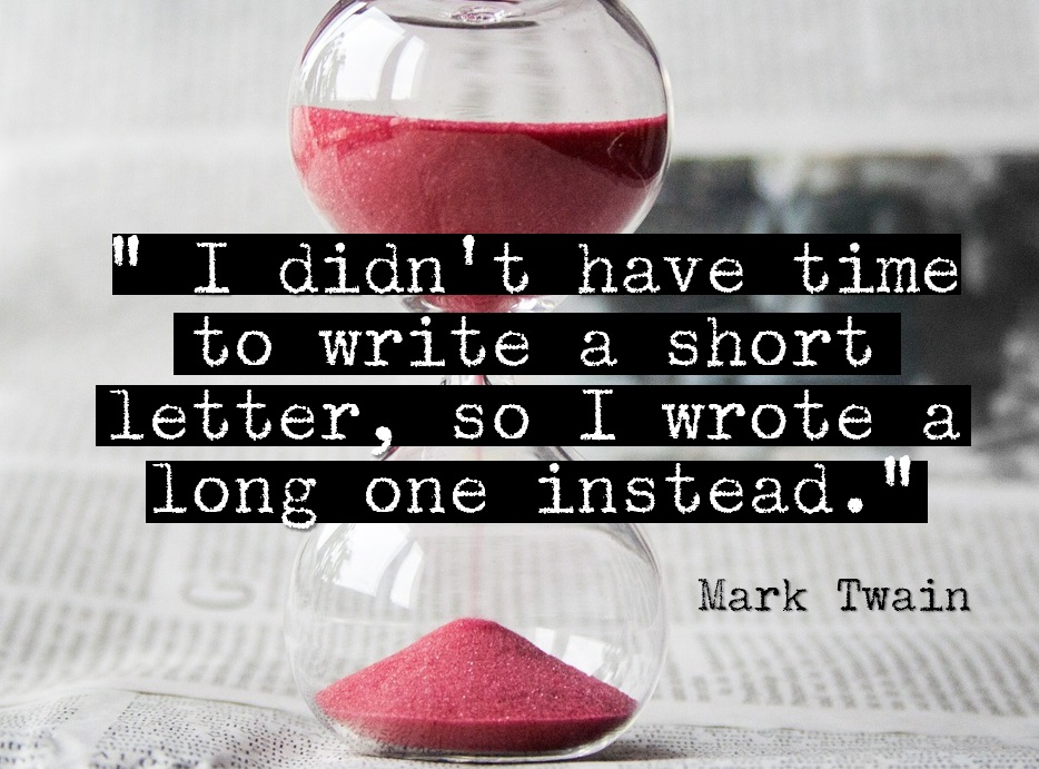 Mark Twain I didn't have time to write a short letter quote
