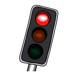 Traffic lights. No when to stop