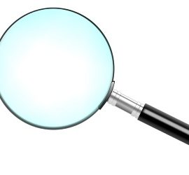 magnifying glass for blog research
