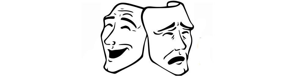 Theatre masks. Lose the mask and be your quirky self