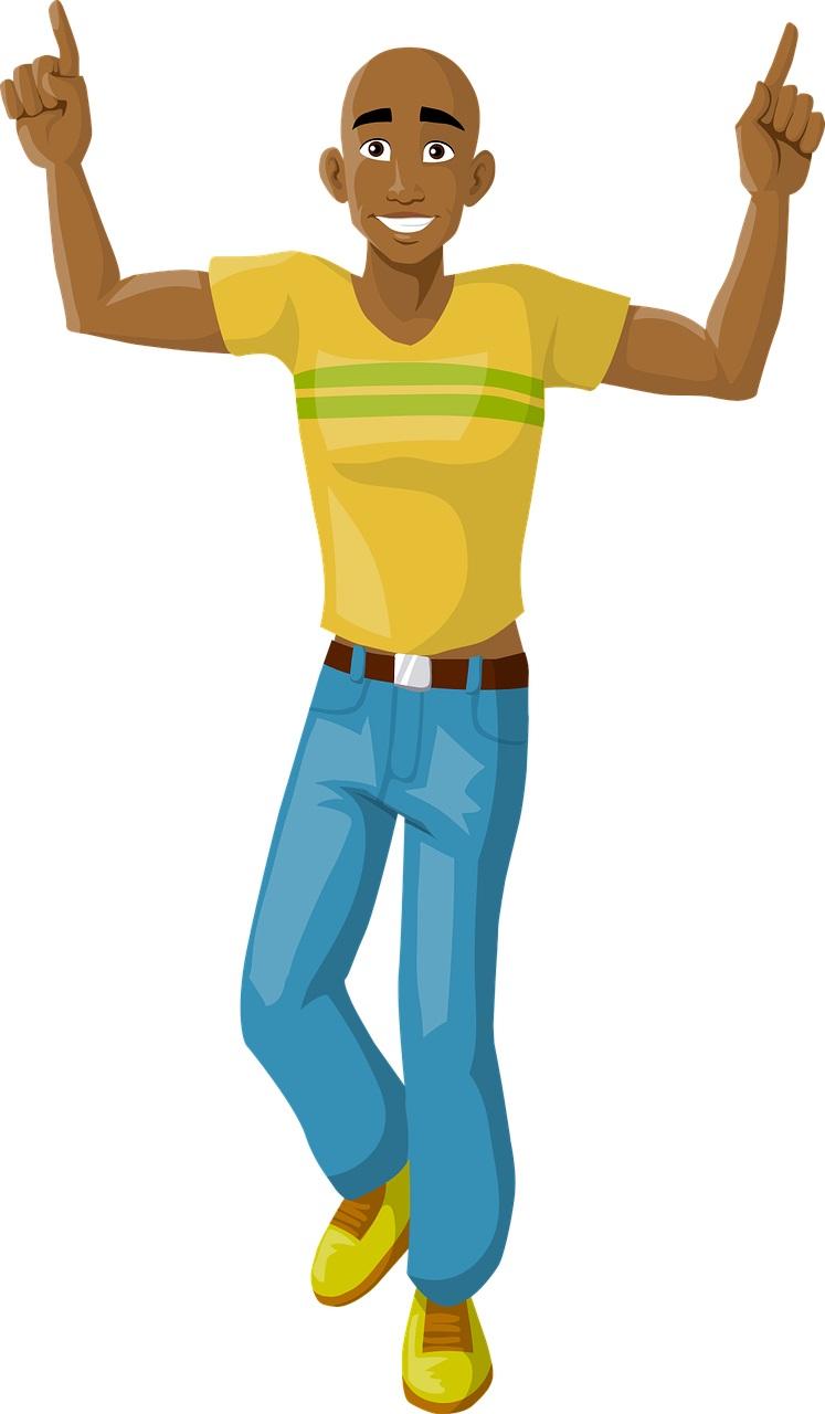 Dancing man. Mr Blogger the social platform