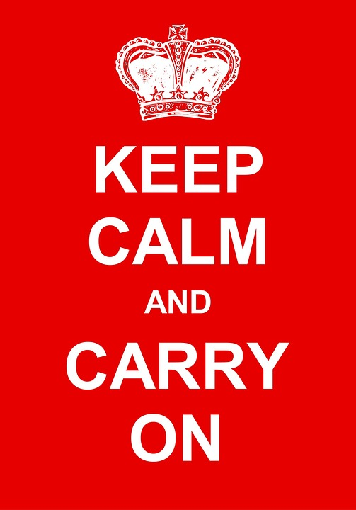 keep calm and carry on being quirky