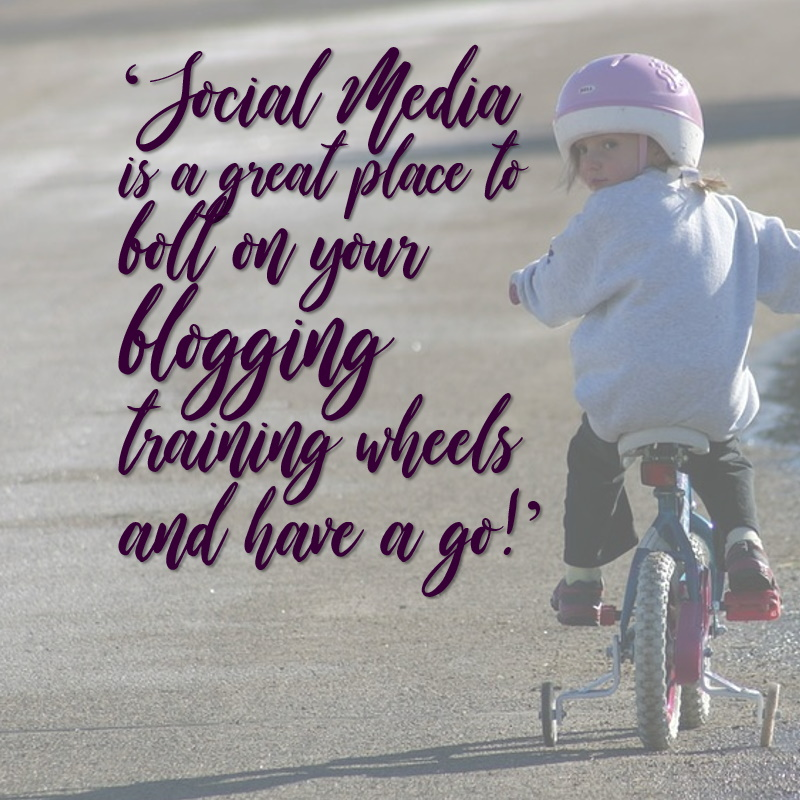 Blogging training wheels