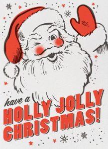 Holly Jolly Christmas Retro Santa