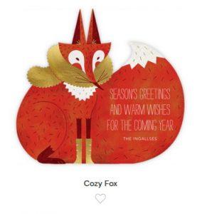Cozy Fox greetings