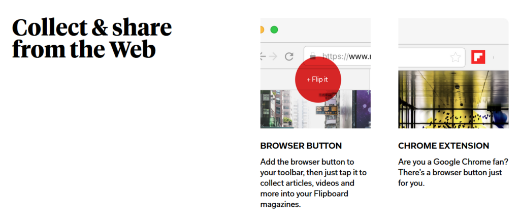 Collect and share content on Flipboard