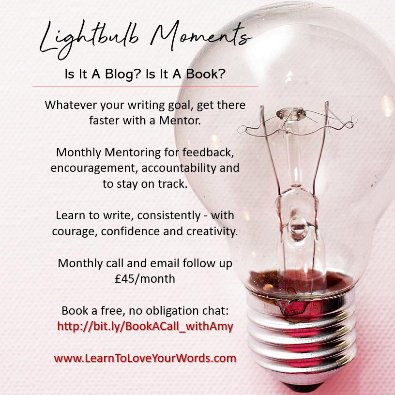 Lightbulb moments writing mentoring