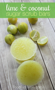 lime sugar scrub soap bar