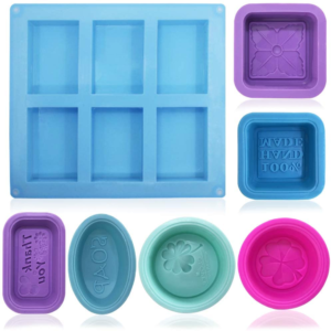 A variety of soap moulds