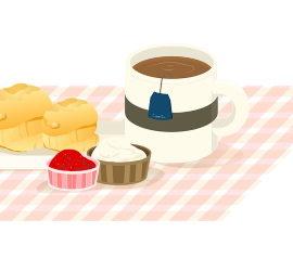 Homemade cream tea, with scones jam and cream recipes