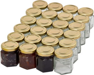 Get mini jam jars here