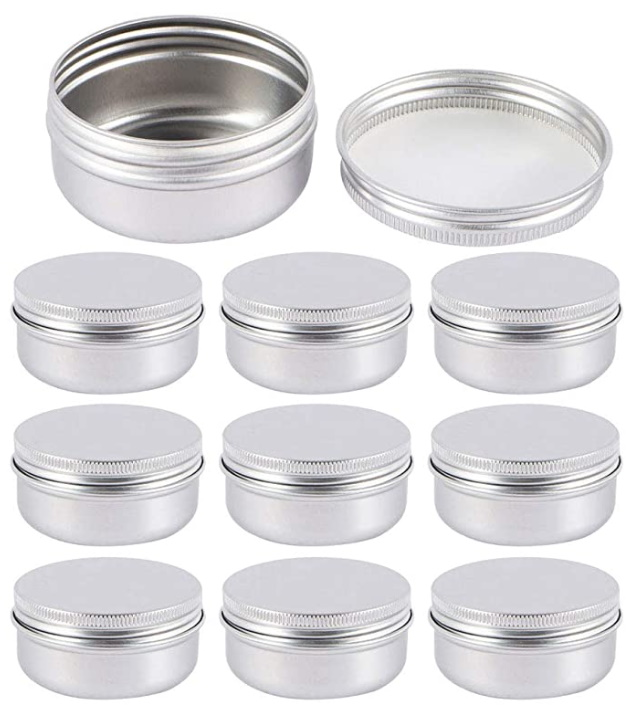 cosmetic tins for homemade beauty products