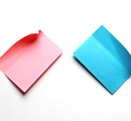 write your words onto post it notes